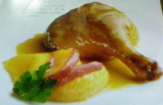 Receta de muslos de pato a la naranja for Pato a la naranja al horno