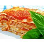 Lasagnas de carne y tocinetas
