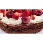 Torta arrollado frutillas y crema