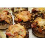 Canapés de hongos portobello y jamón