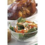 Ensalada de espinaca, zanahoria y almendras