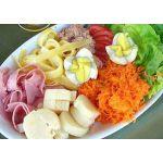 Ensalada de hortalizas y pollo