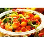 Ensalada de lechuga, tomate y melón