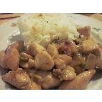 Pechuga de pollo con salsa de albaricoque en Wok