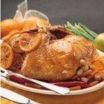 Pollo con naranja