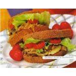 Sandwich de carne deshilachada