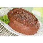 Torta de chocolate y crema de chocolate
