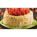 Torta de fresas y almendras